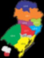 Divisão dos distritosque compõem o Distrito Múltiplo LEO LD.