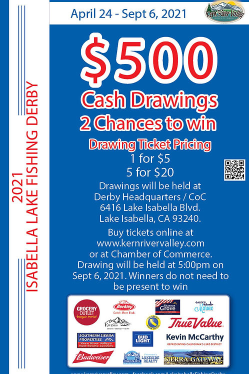 $500 Cash Prize Raffle