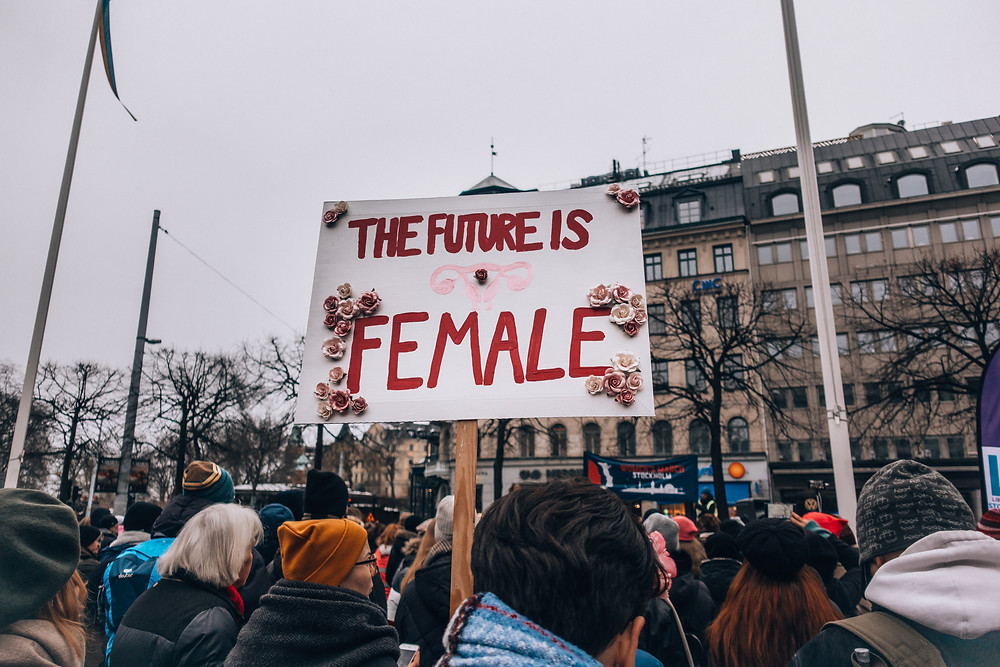 The Future Is Female protest poster