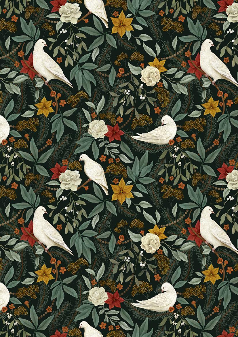 'White Doves' by illustrator Rosie Dore