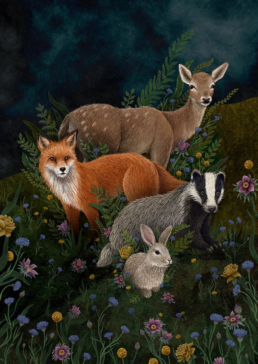 'Woodland Animals' by Rosie Dore
