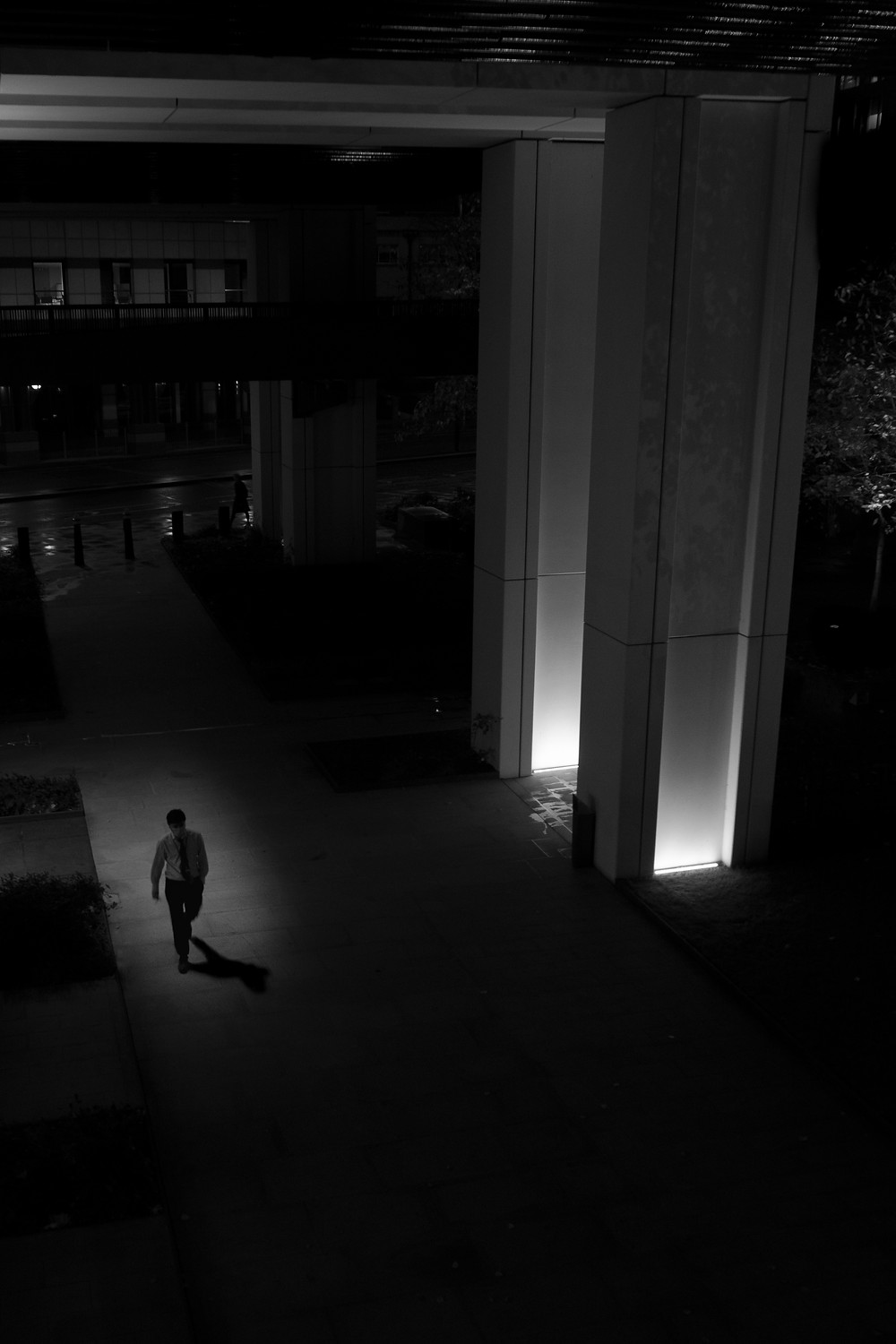 Late night walker, pictured by photographer Michele George Bishop