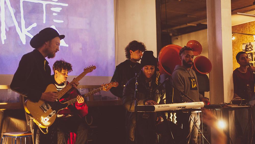 The collective Noutéka performing at Quartier Libre