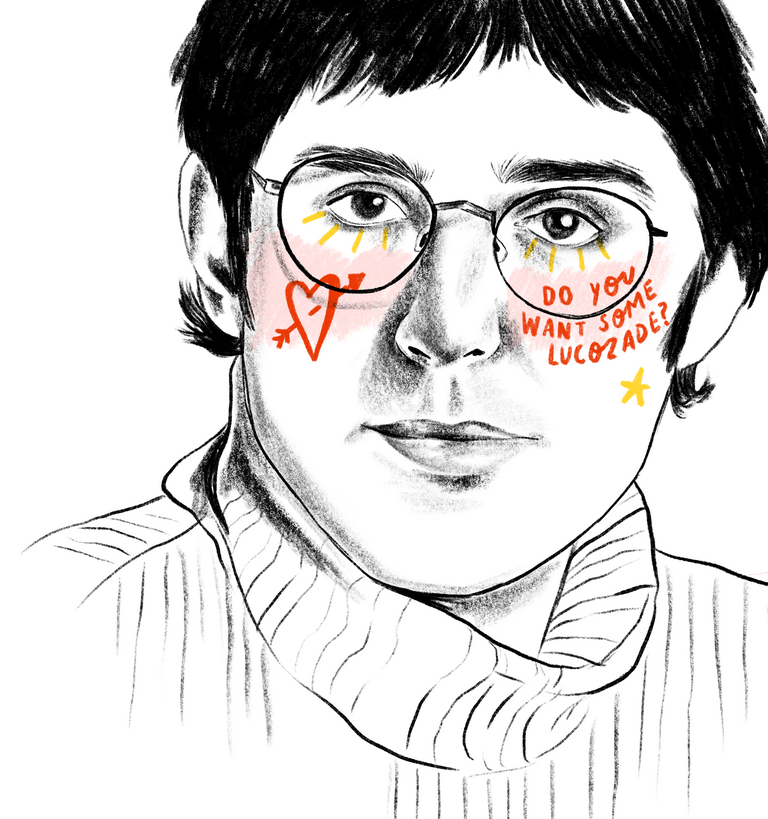 'Louis Theroux' by Bethany Mannion AKA Spilt Milk Press