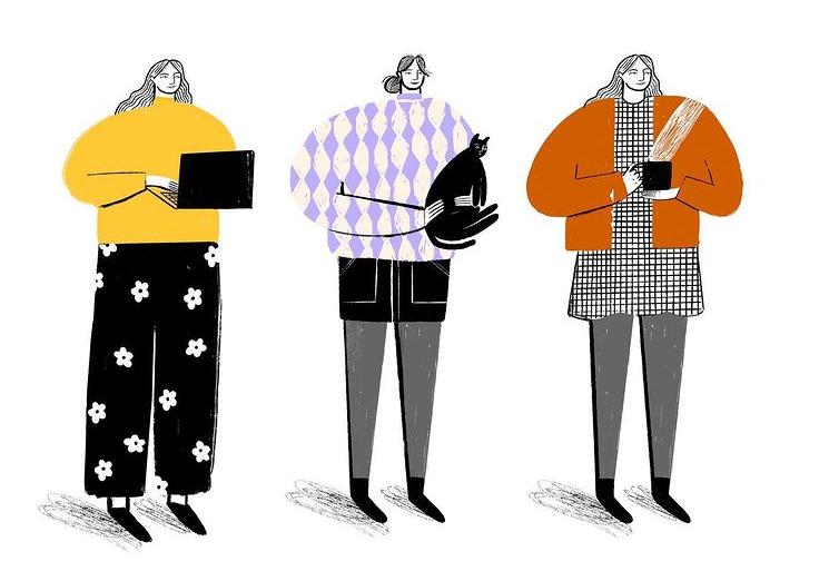 'Three Lockdown Looks' by Lizzie Knott
