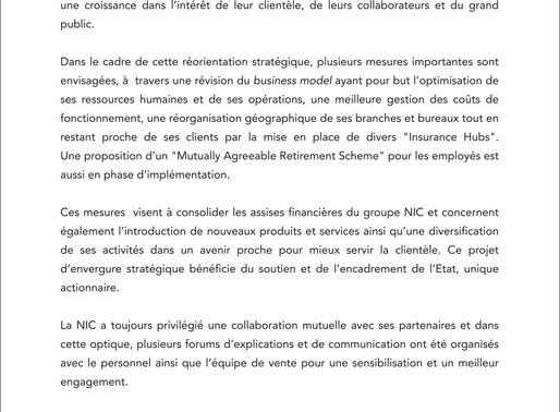 COMMUNIQUE - 16 Oct 2020