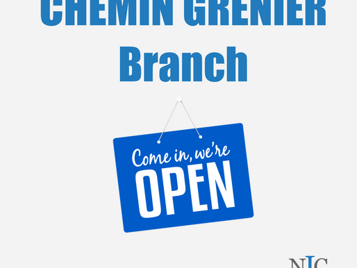 Chemin Grenier Branch now open!