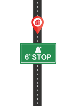 Route vector with signage