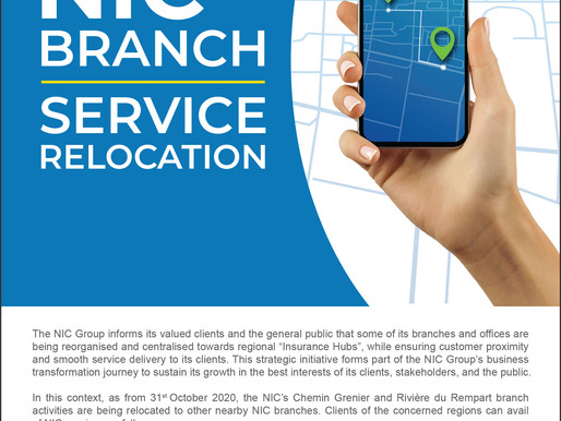 NIC Branch Service Relocation Notice