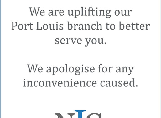 Renovation Notice - Port Louis branch