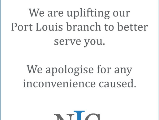 Renovation Notice - Port Louis branch