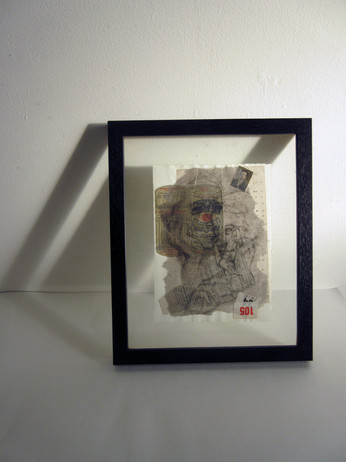 """""""Two continents of experience and feeling..."""" (framed)"""