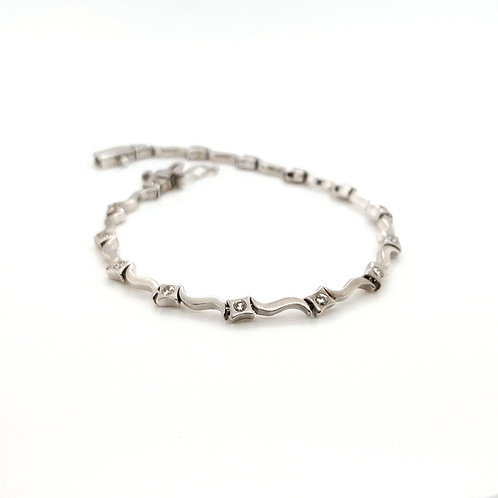 Diamond Wave Bracelet