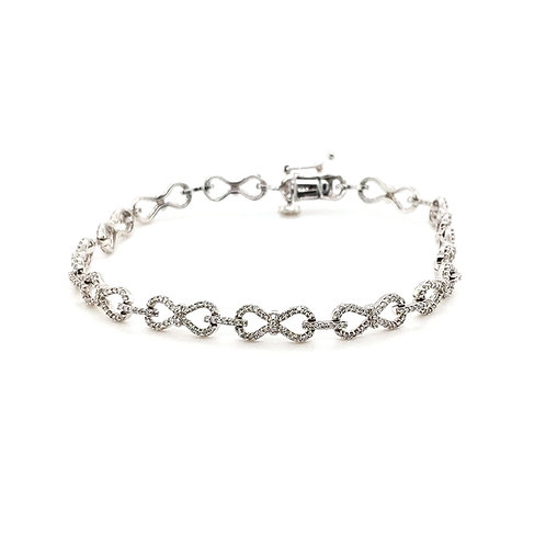 Diamond Infinity Loop Bracelet