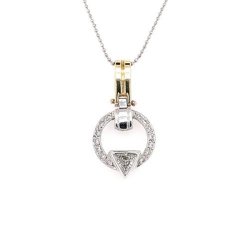 Trillion Cut Diamond Pendant