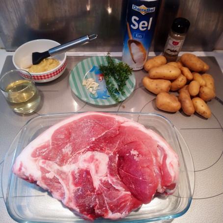 Recette Rouelle de porc / pommes de terre