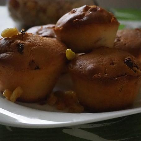 Muffins chocolat blanc / raisins sec