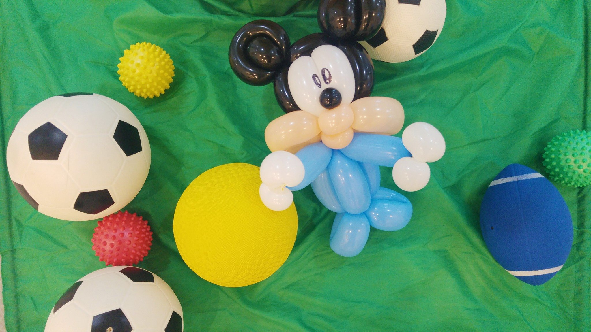 mickey mouse, baby minnie balloon