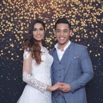 Wedding photo booth custom filter
