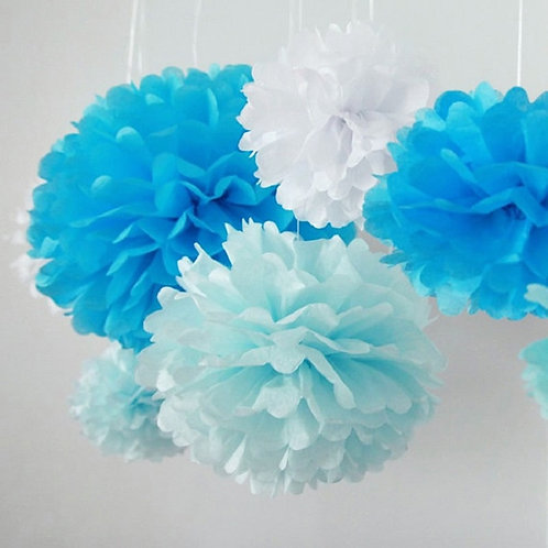 Tissue Paper Pompoms - Paper Flowers Ball 5pcs 6''-12''