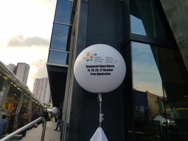 Giant Tripod Advertising Balloon Singapore