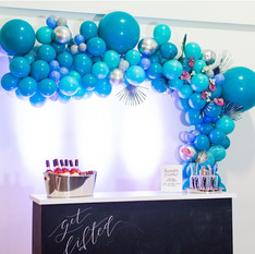 Blue turqoise Balloon Arch Deco