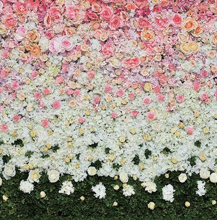 floral wedding photo booth backdrop