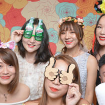 Pastel Flowers Photo Booth Singapore
