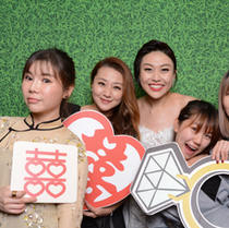 Photo booth with lots of props!