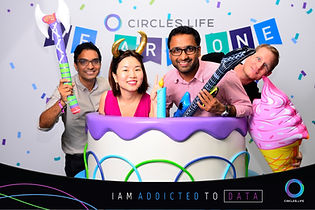 Circles.life party photo booth