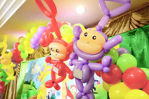 Teletubbies balloon sculpture balloon arch decoration
