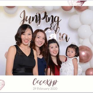 wedding photo booth white boho balloon