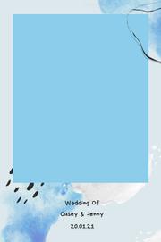 Sky blue scrapbook pb 18