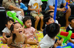 Kids party magic show packages, look at all the kids having fun!