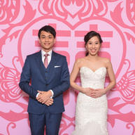 chinese Xi Backdrop for weddding photobooth