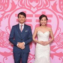 chinese Xi Backdrop for weddding photobooth