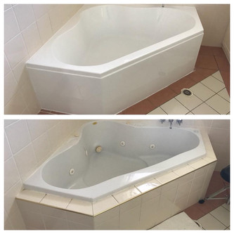 Old Spa Bath Removal - New Bath Install