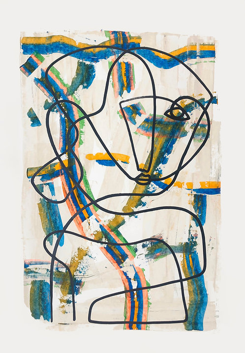 Acrylic on paper, 42 x 59cm