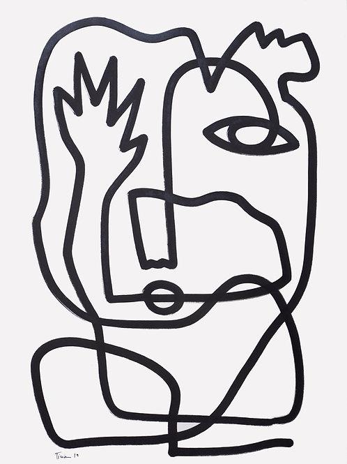 Acrylic on paper, 59 x 84cm