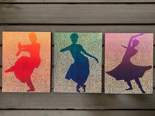 Dances of India - 3 Piece Wall Hanging Set