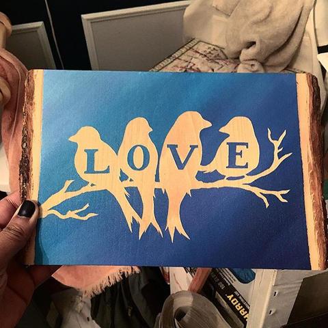 BRAND NEW live edge love birds available