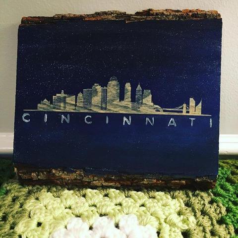 The Queen City skyline #InstaEtchStudio