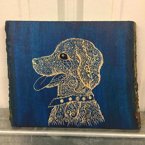 """""""Puppy love""""- Laser engraved puppy manda"""