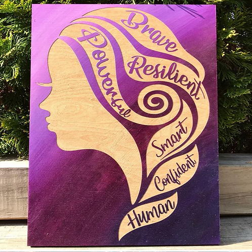 Strong Woman Affirmation Wall Hanging