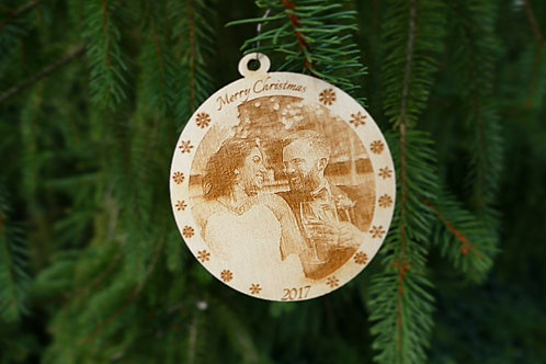 Single Sided Engraved Wood Ornament