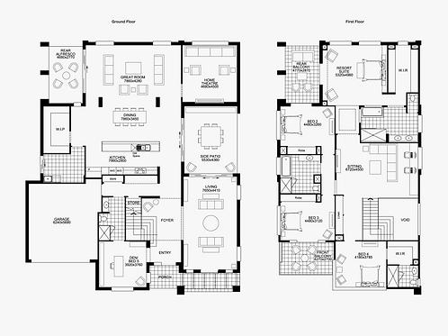 Floor Plan A Onsite Double Storey