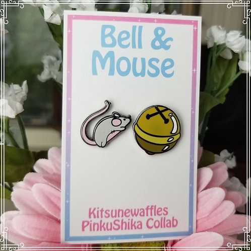 Bell & Mouse Mini Pin Set