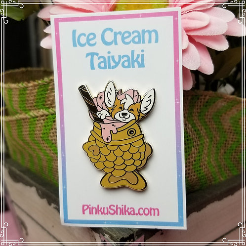 Ice Cream Taiyaki Pin