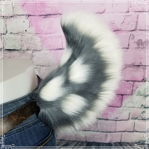 Pewter Spotted Deer Tail