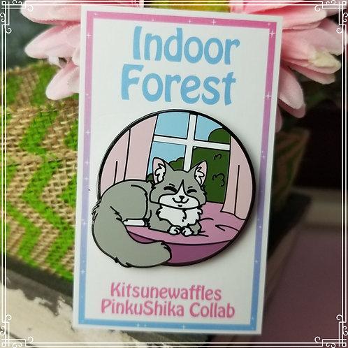 Indoor Forest Cat Pin